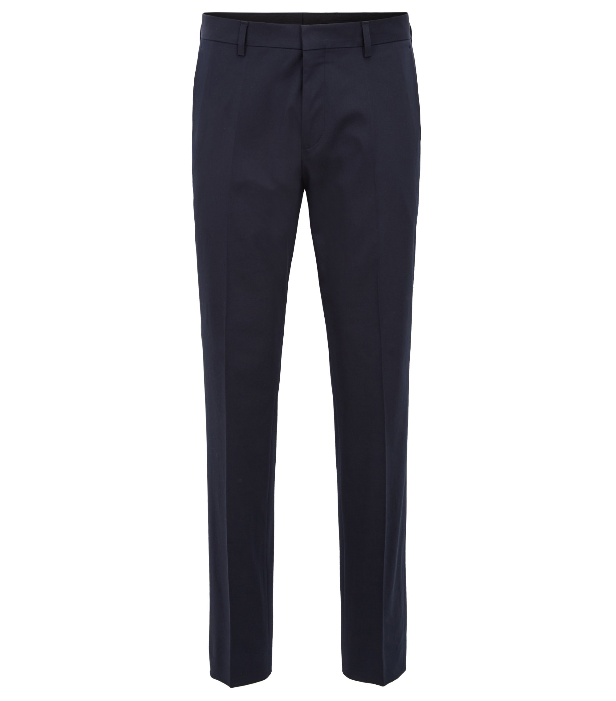 Chino Slim Fit en coton stretch à effet satiné , Bleu