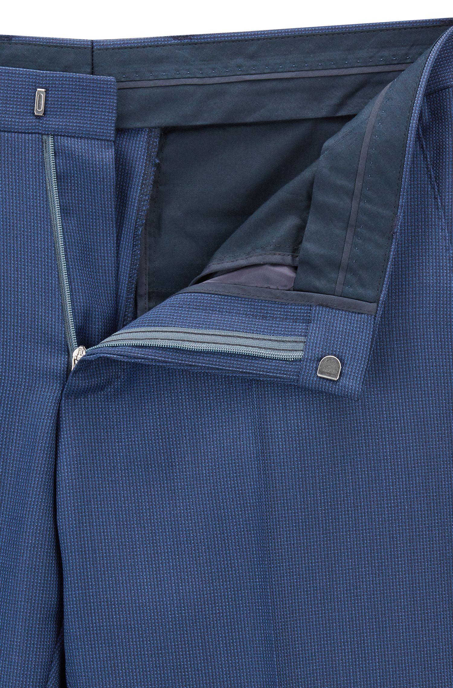 Slim-fit kostuum van gemêleerde scheerwol