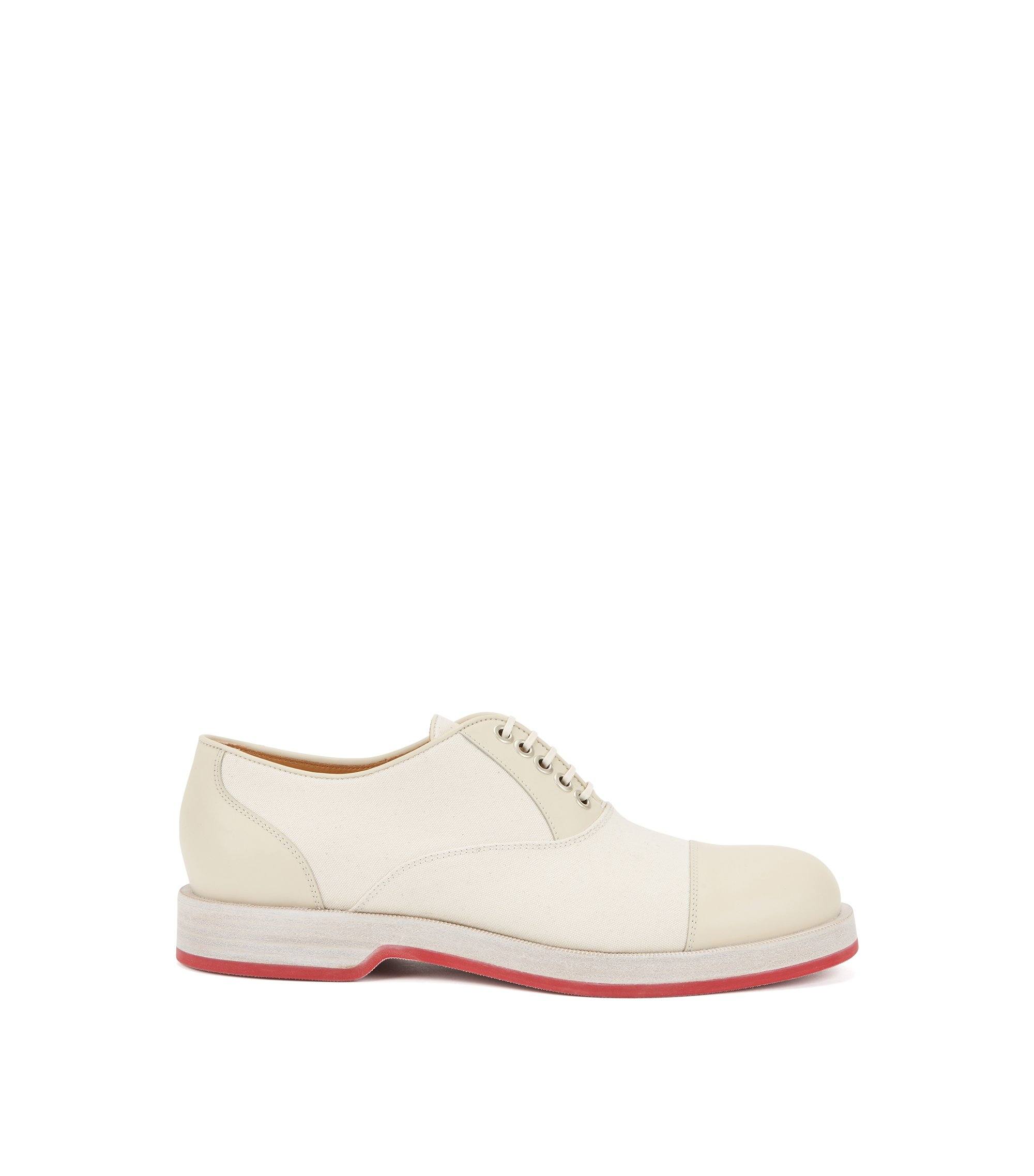 Oxfordschoenen van glad leer, Naturel
