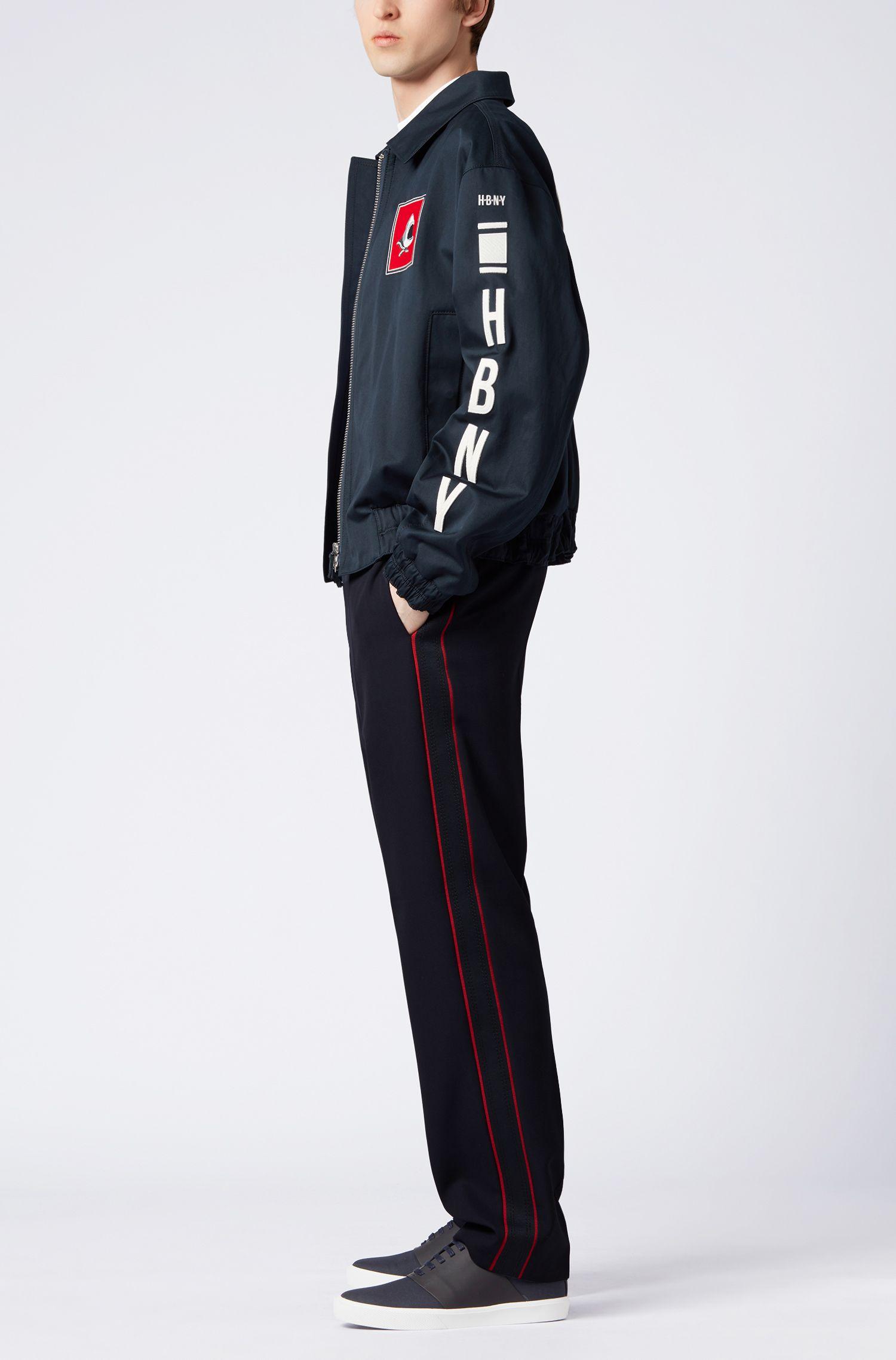 Regular-Fit Hose aus Schurwolle mit versiegelten Seitennähten aus der Runway Edition