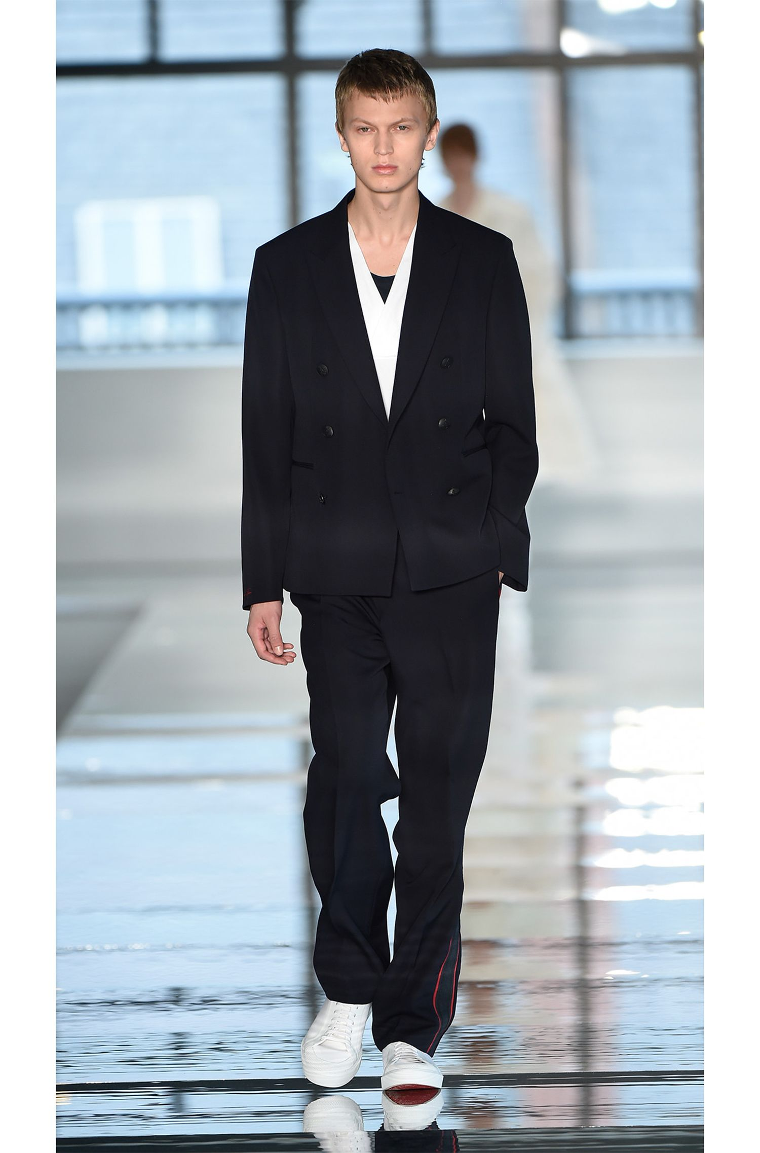 Pantaloni in lana vergine Runway Edition con cucitura laterale nastrata
