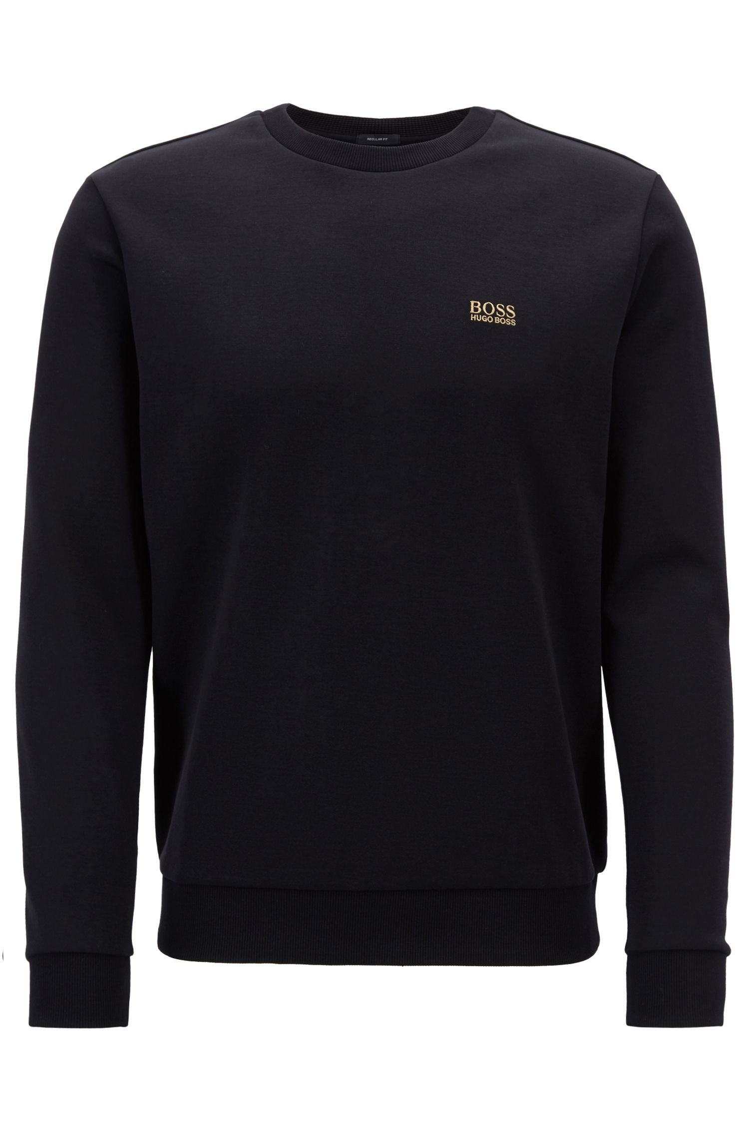 Crew-neck sweatshirt in a double-faced cotton blend