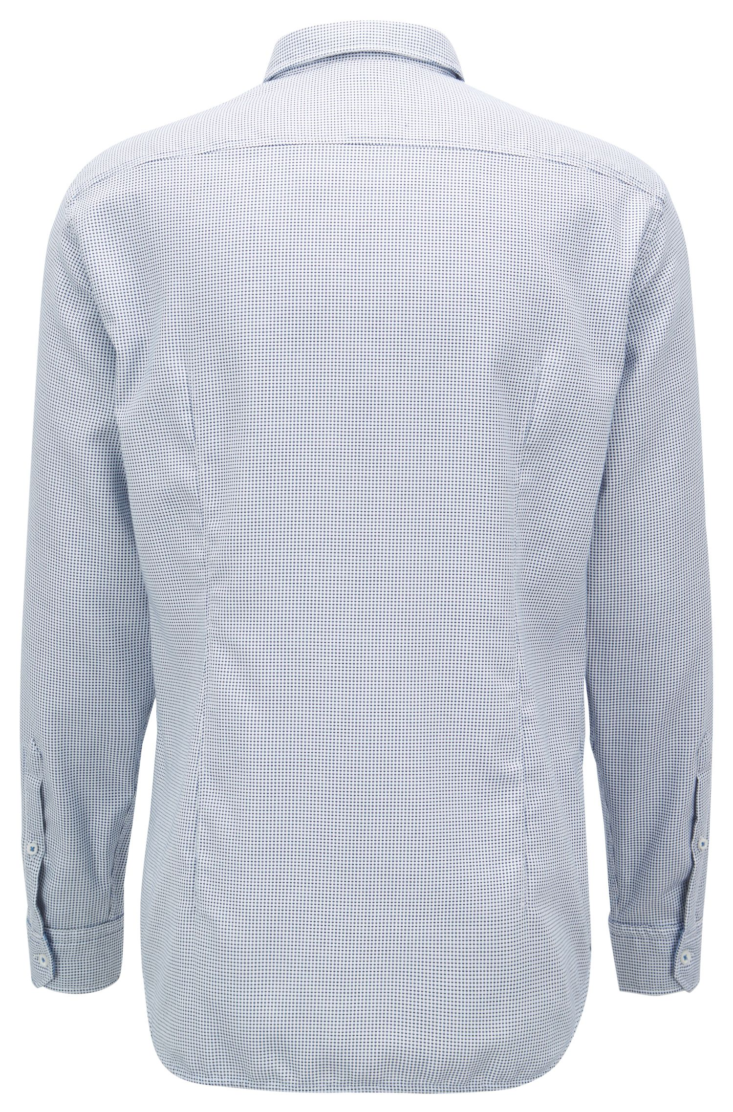 Regular-fit shirt in cotton with button-down collar, Blue