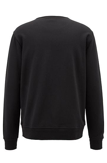 饰以3D logo的水手领法式毛圈布运动衫,  001_黑色
