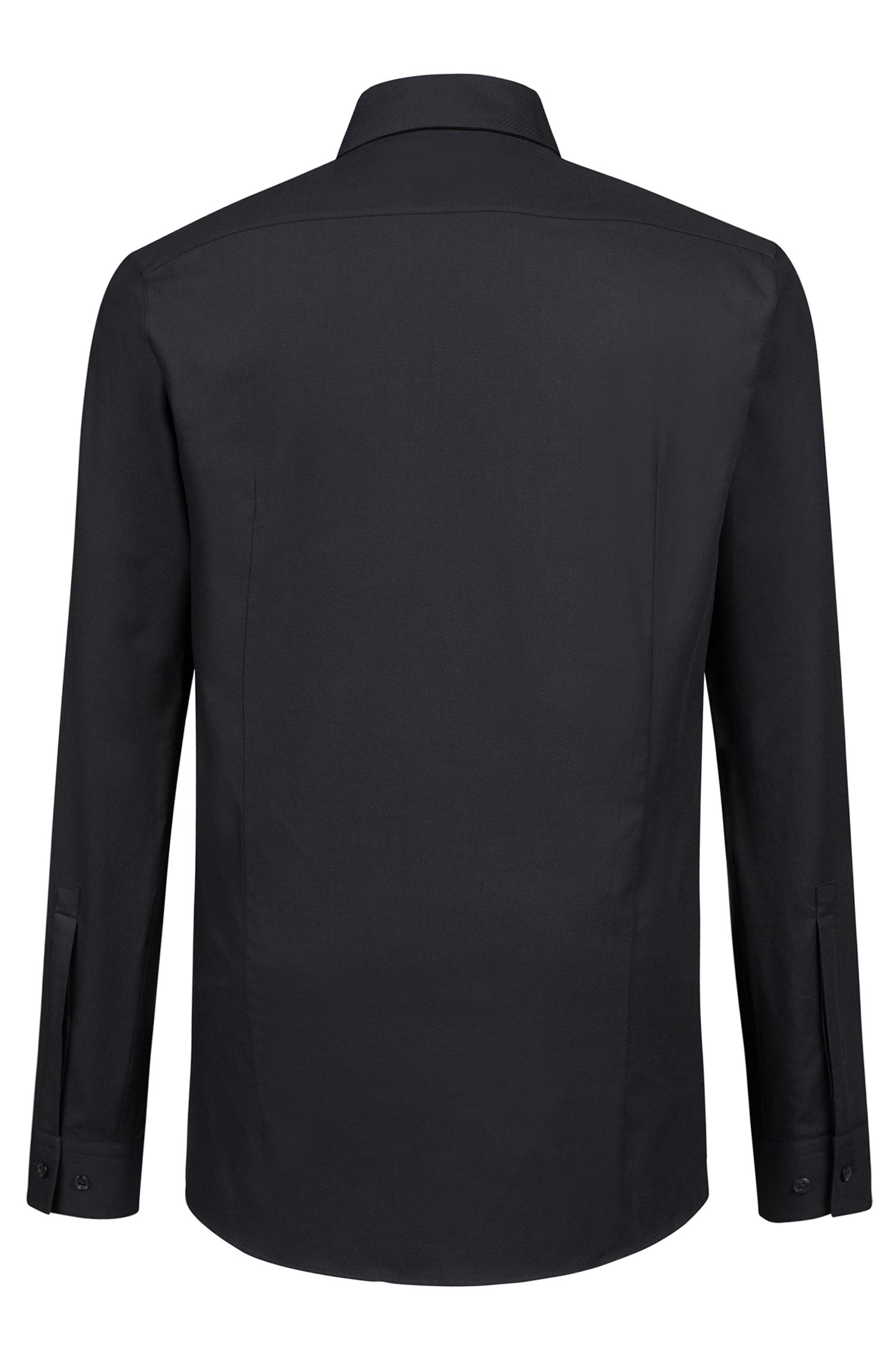 Extra-slim-fit cotton shirt with tab collar