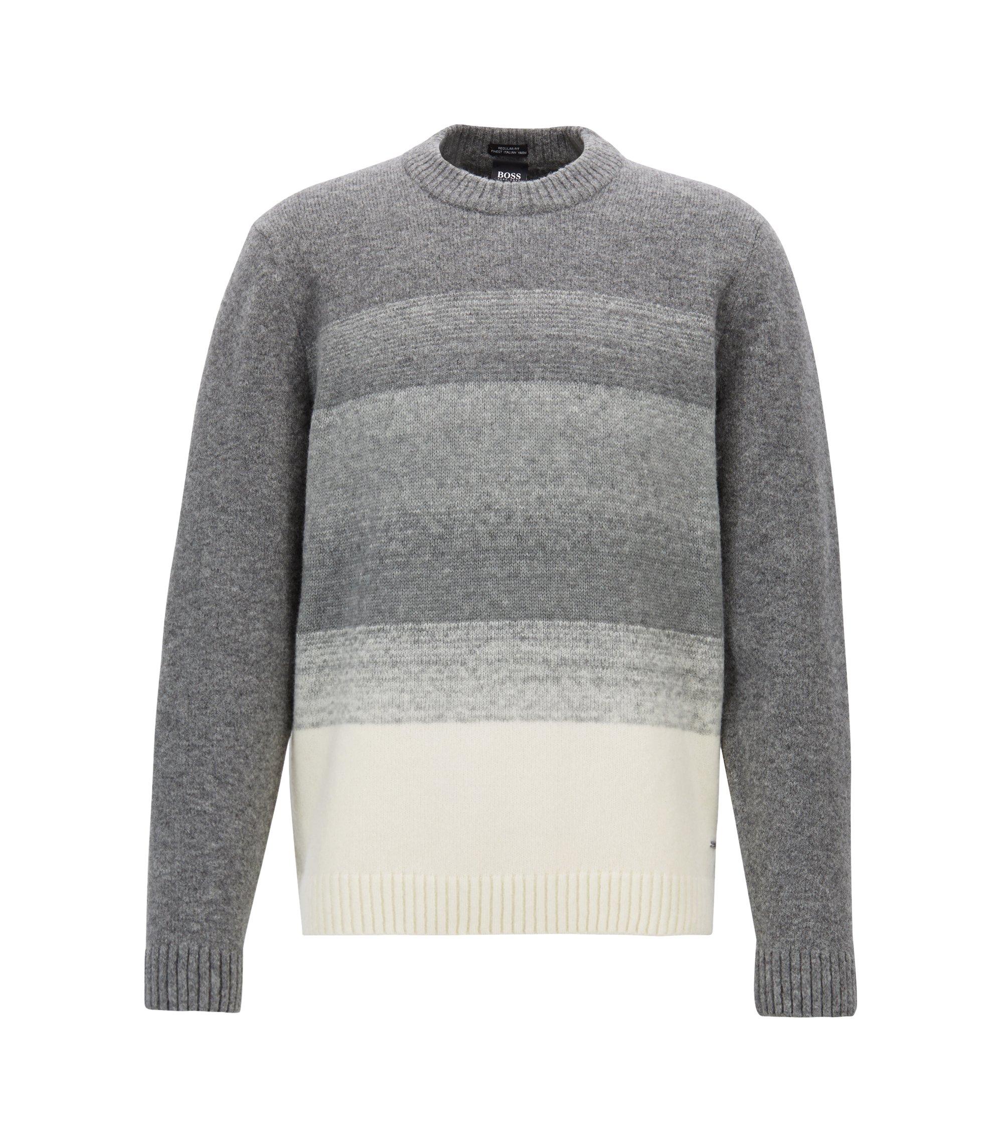 Maglione in misto lana con effetto dégradé, Argento