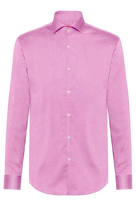 Camisa slim fit en algodón de planchado fácil, Pink
