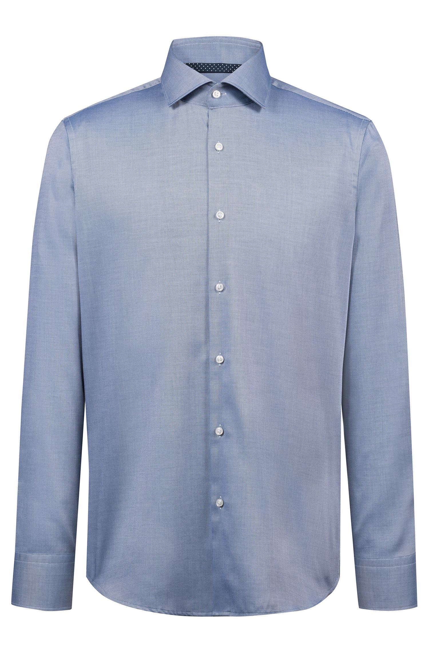Chemise Regular Fit en coton Oxford facile à repasser, Bleu