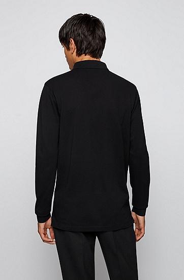皮马棉珠地布常规版型 Polo 衬衫,  001_Black