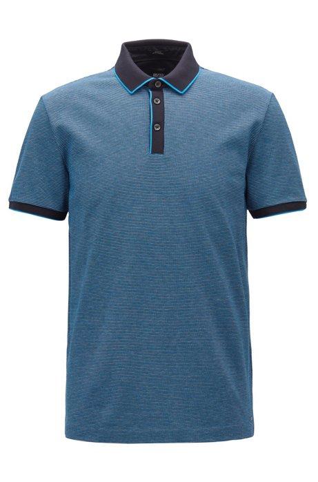 9f3d993e BOSS - Slim-fit polo shirt in three-coloured mercerised cotton