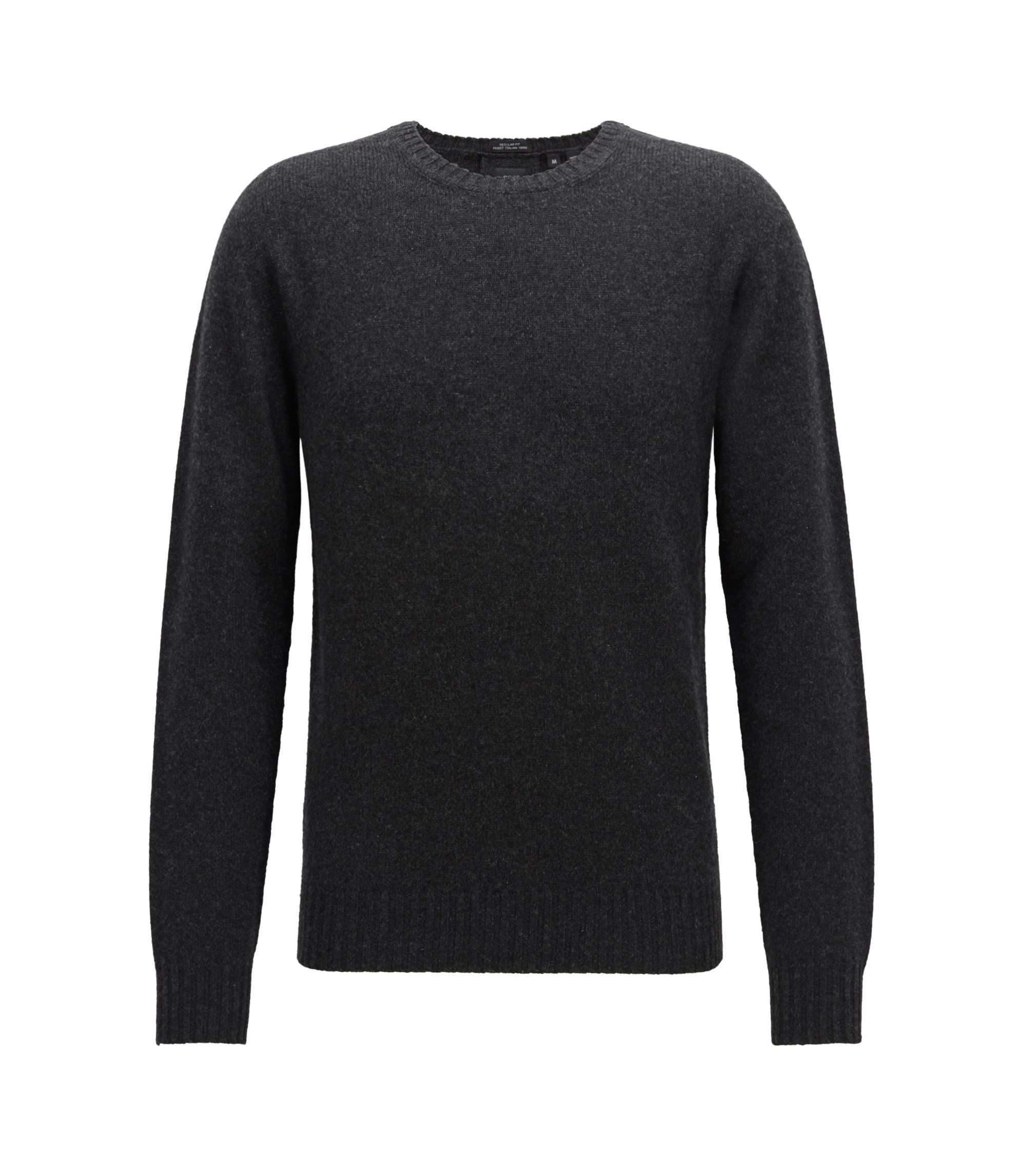 Knitted sweater in pure cashmere with seam-free construction, Black