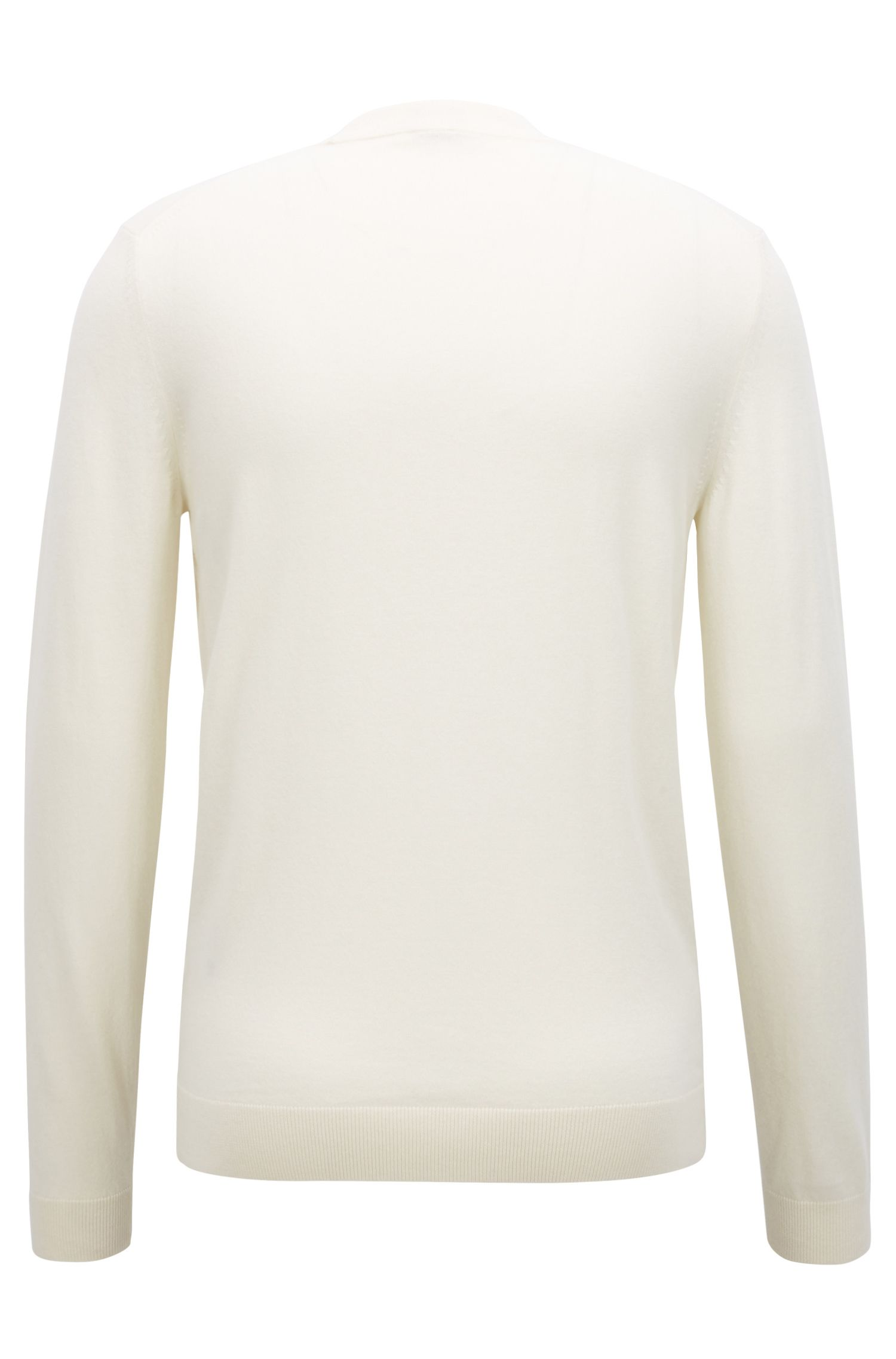 Slim-fit sweater in a virgin-wool blend with cashmere