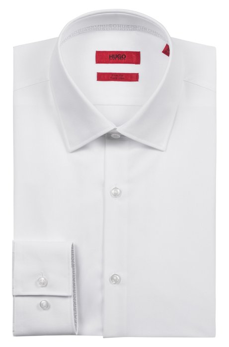Cheap Sale Nicekicks Slim-fit shirt in easy-iron cotton with internal logo trim HUGO BOSS Visa Payment For Sale Cheap Sale Hot Sale Y3bL7kxZ