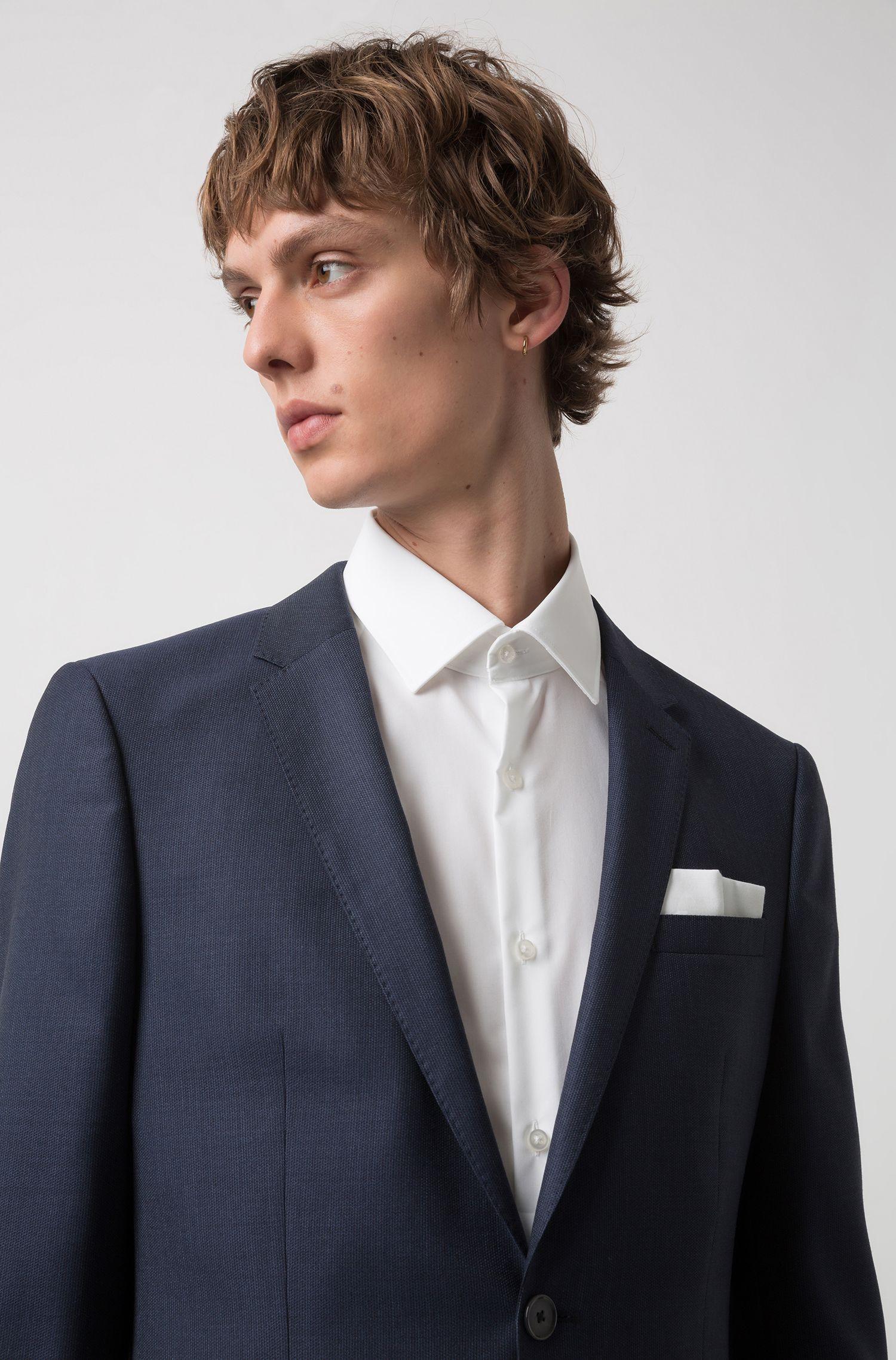 Chemise Slim Fit en coton facile à repasser avec finition logo intérieure