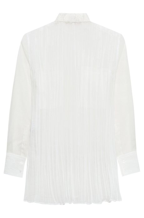 Discounts Sale Online Relaxed-fit crinkle-silk blouse with chest pockets HUGO BOSS Inexpensive Cheap Price Sneakernews Online pRmcz