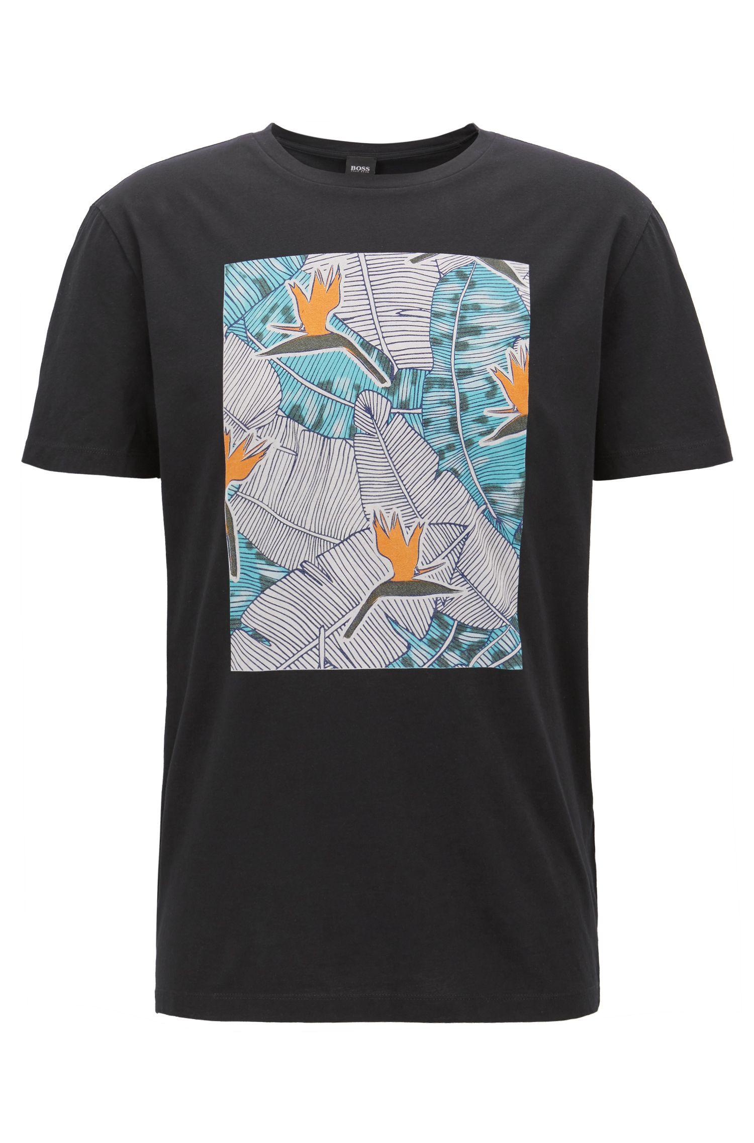 T-shirt à imprimé graphique en jersey de coton lavé
