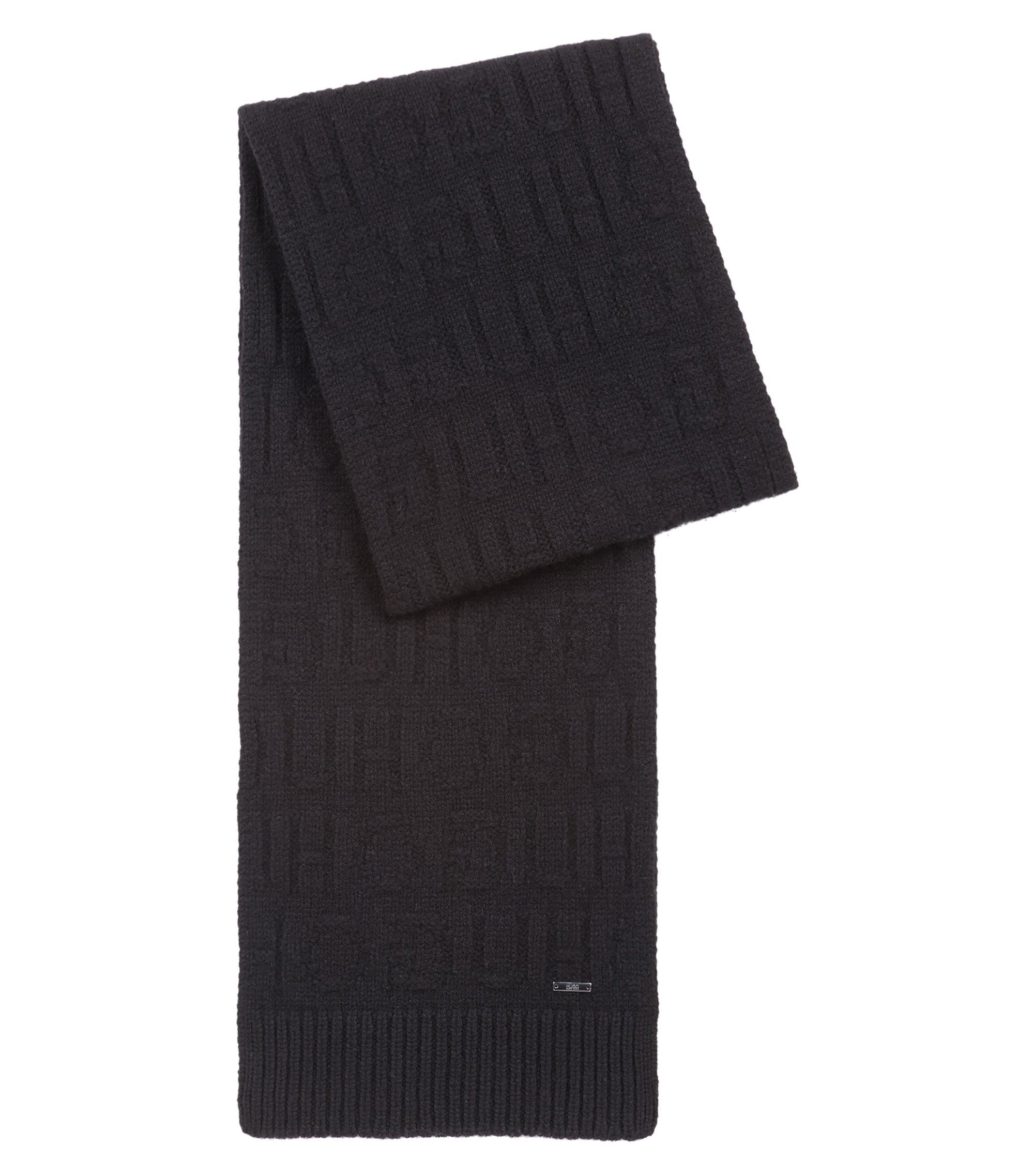 Coffret cadeau avec bonnet et écharpe à logo inversé, Noir