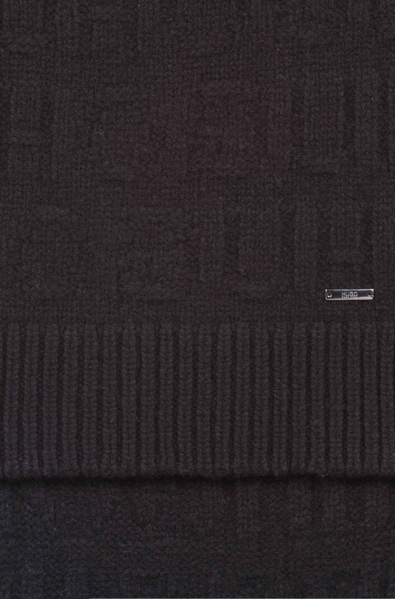 Geschenk-Set mit Mütze und Schal mit Reversed-Logo, Schwarz