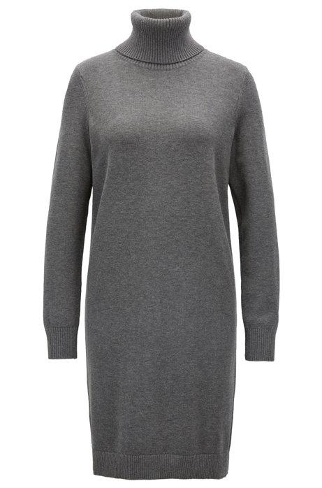 de lana con una en suéter de cuello virgen de mezcla redondo algodón Vestido FwSPqR8f