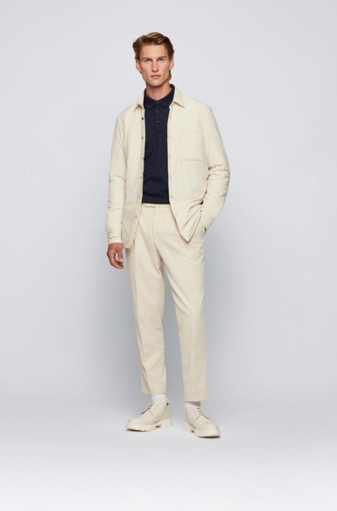 Long-sleeved polo shirt in interlock cotton