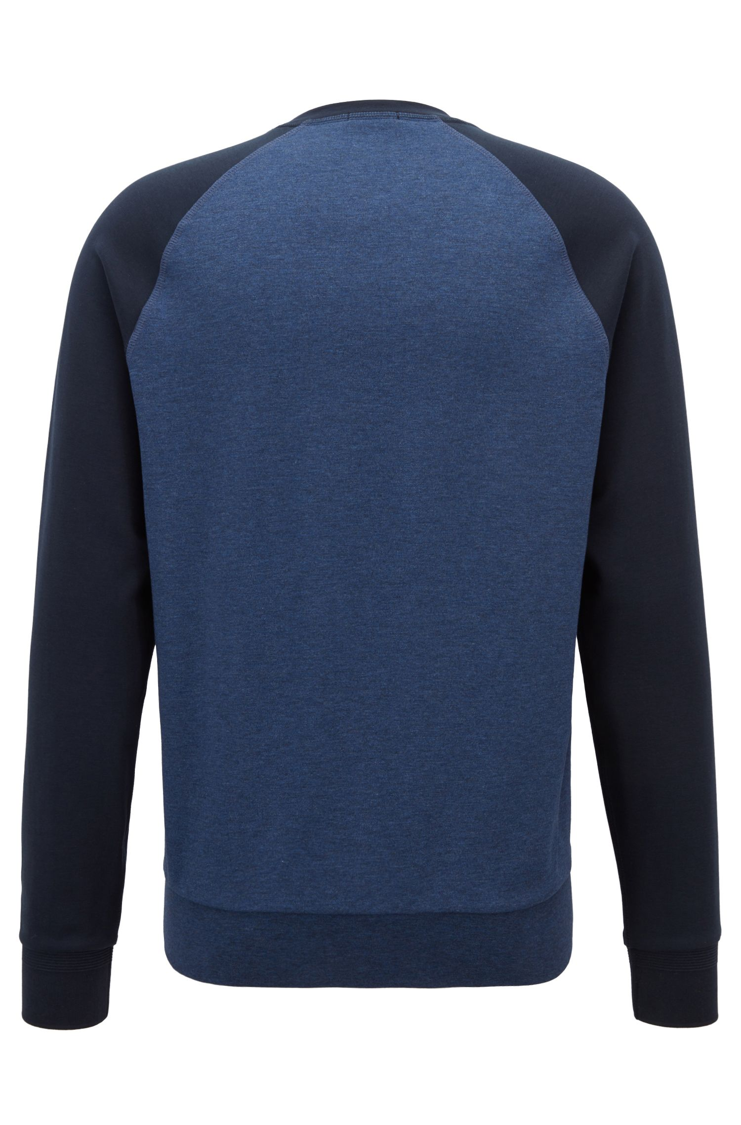 Maglione slim fit in cotone strutturato con dettagli a blocchi di colore