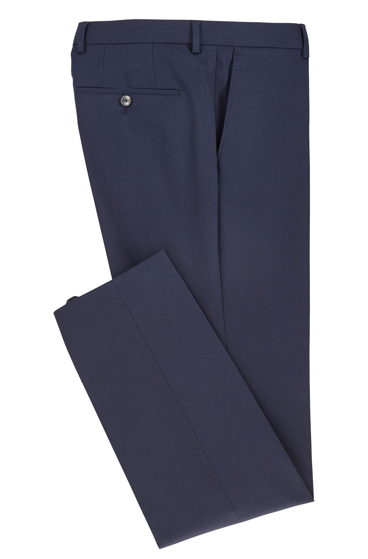 Slim-fit stretch-cotton trousers with AMF stitching