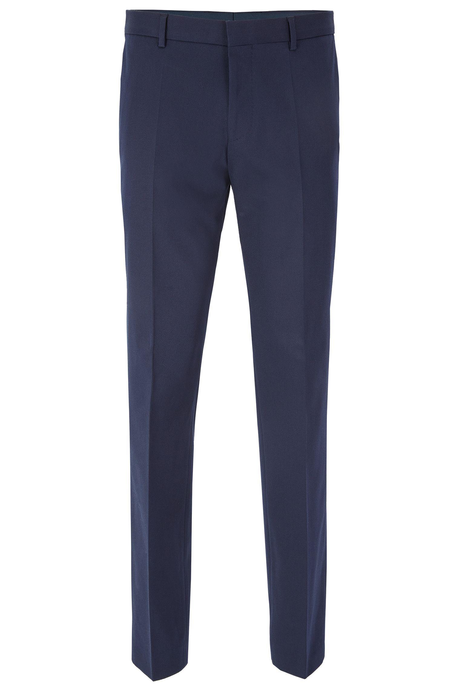 Pantaloni slim fit in cotone elasticizzato con impunture AMF