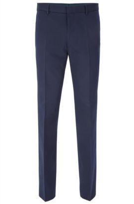 Pantalon Slim Fit en coton stretch, à surpiqûres AMF, Bleu foncé