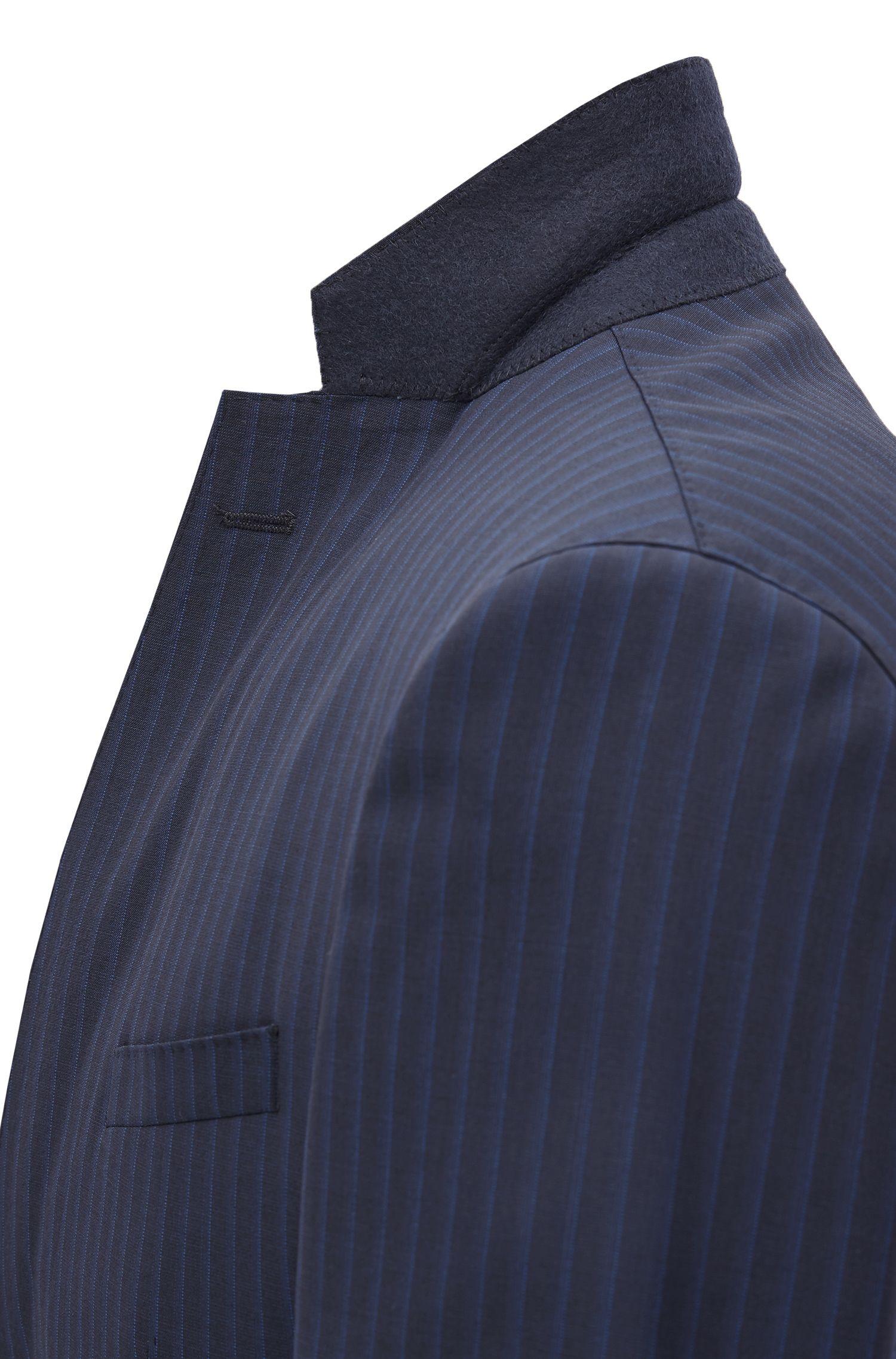 Extra Slim-Fit Anzug aus Schurwolle mit AMF-Nähten