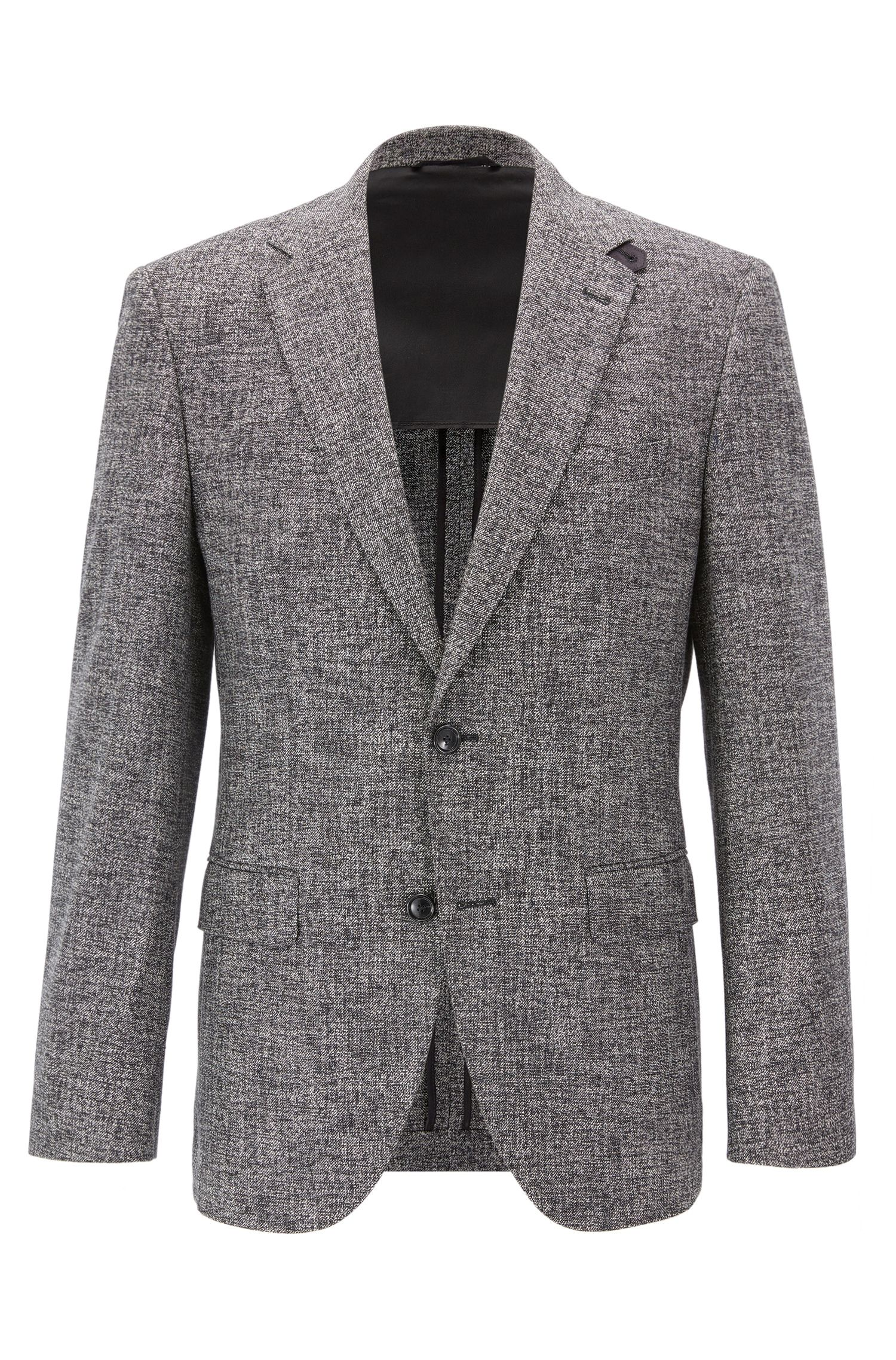 Regular-fit cotton-blend jacket with elbow patches