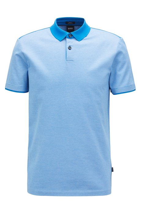 94626dca BOSS - Slim-fit polo shirt in mercerised cotton
