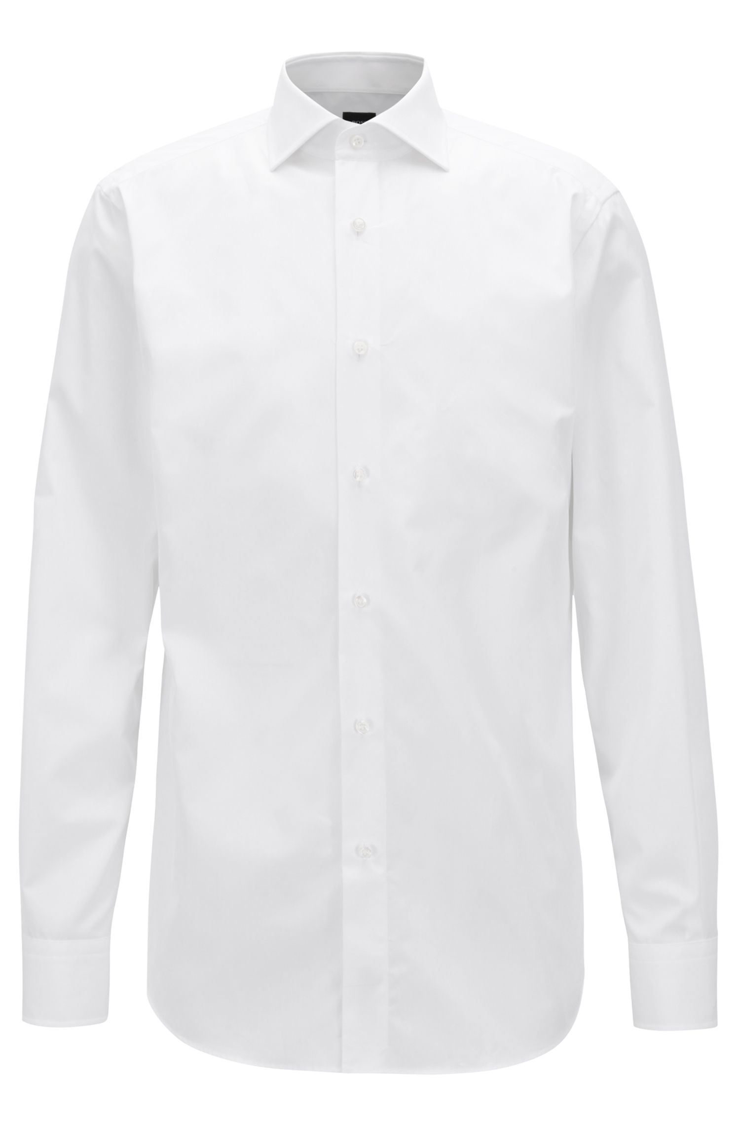 Tailored shirt in two-ply Italian cotton poplin