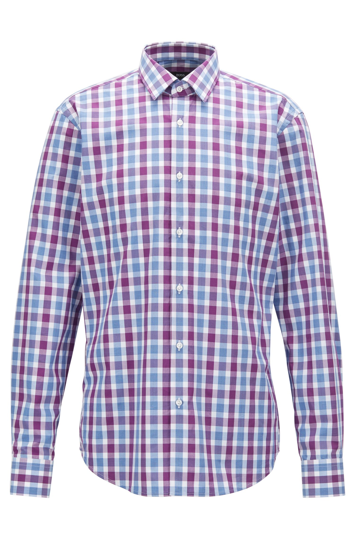 Chemise Regular Fit en popeline de coton à carreaux vichy