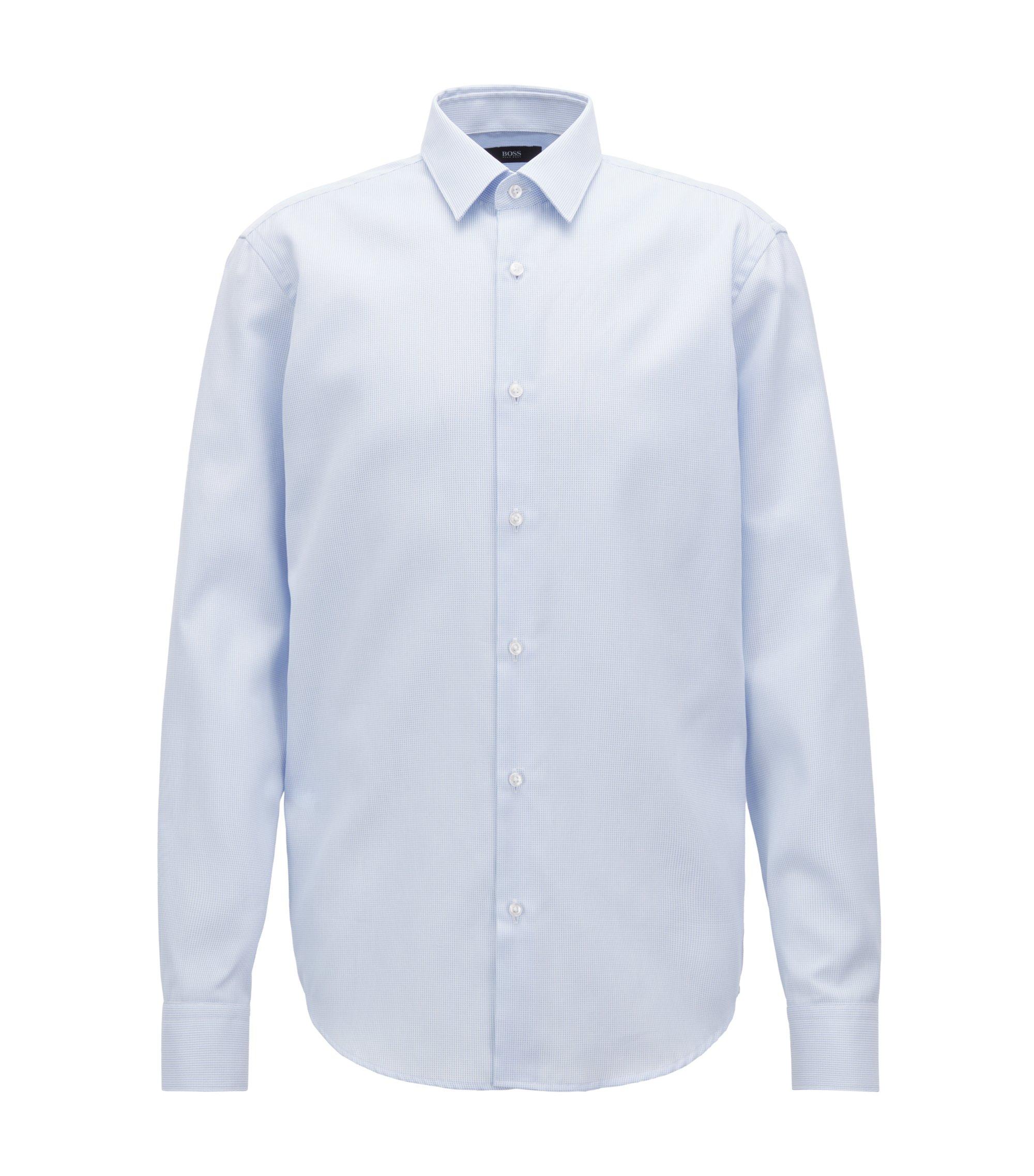 Chemise en coton suisse traité à l'aloe vera, Bleu vif