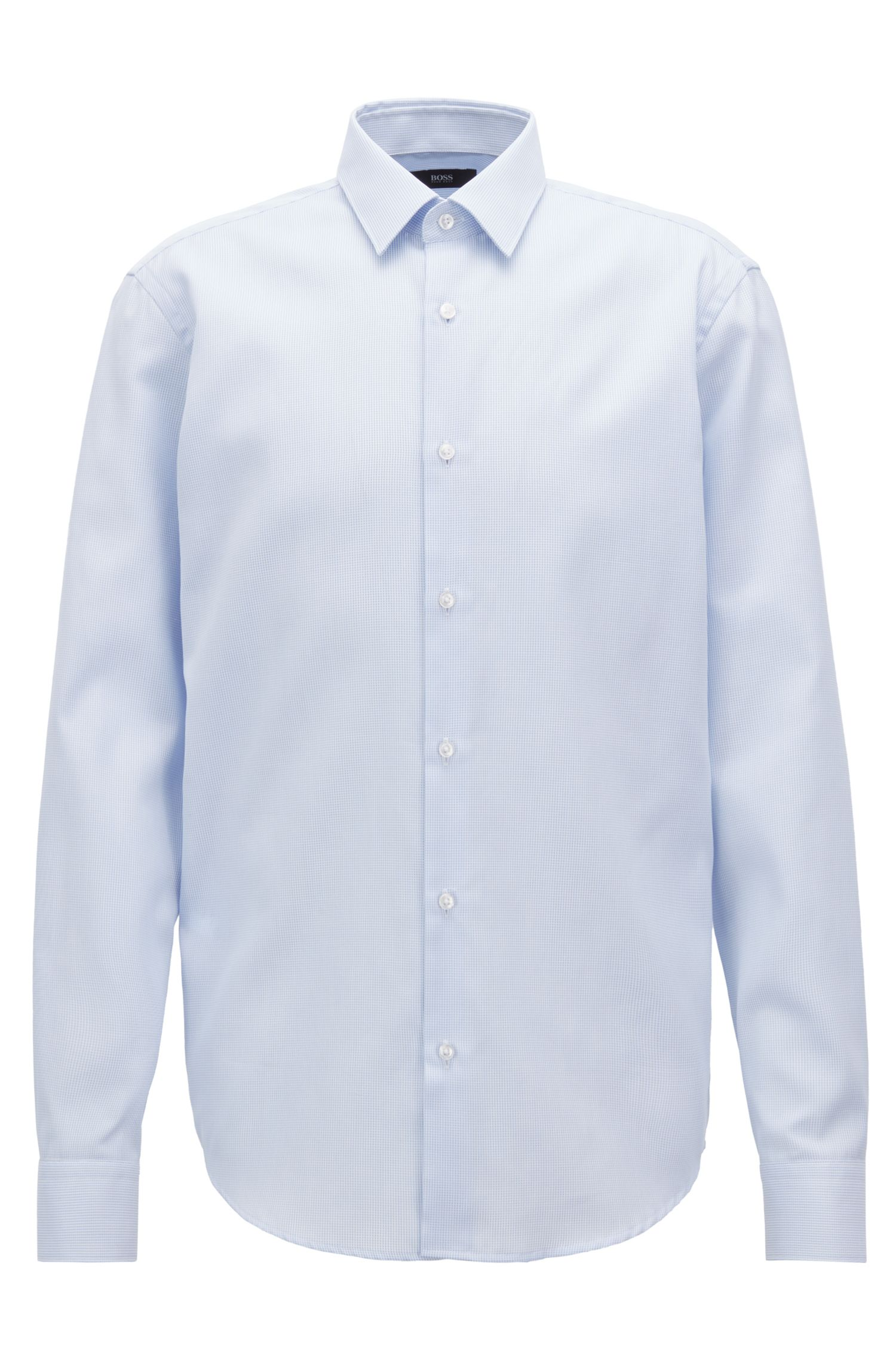 Swiss-cotton shirt with aloe vera treatment, Light Blue