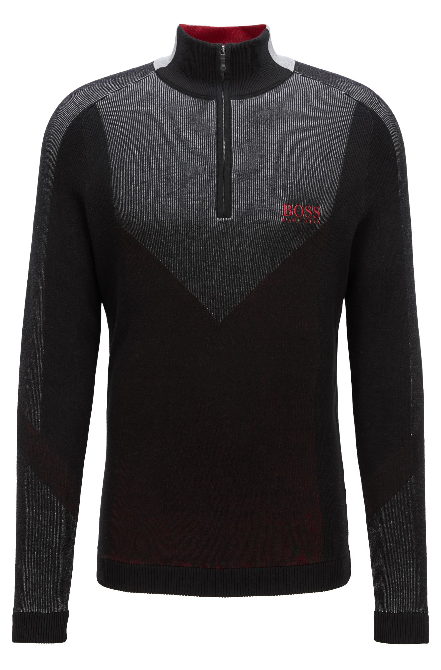 Water-repellent sweater in a stretch-cotton blend