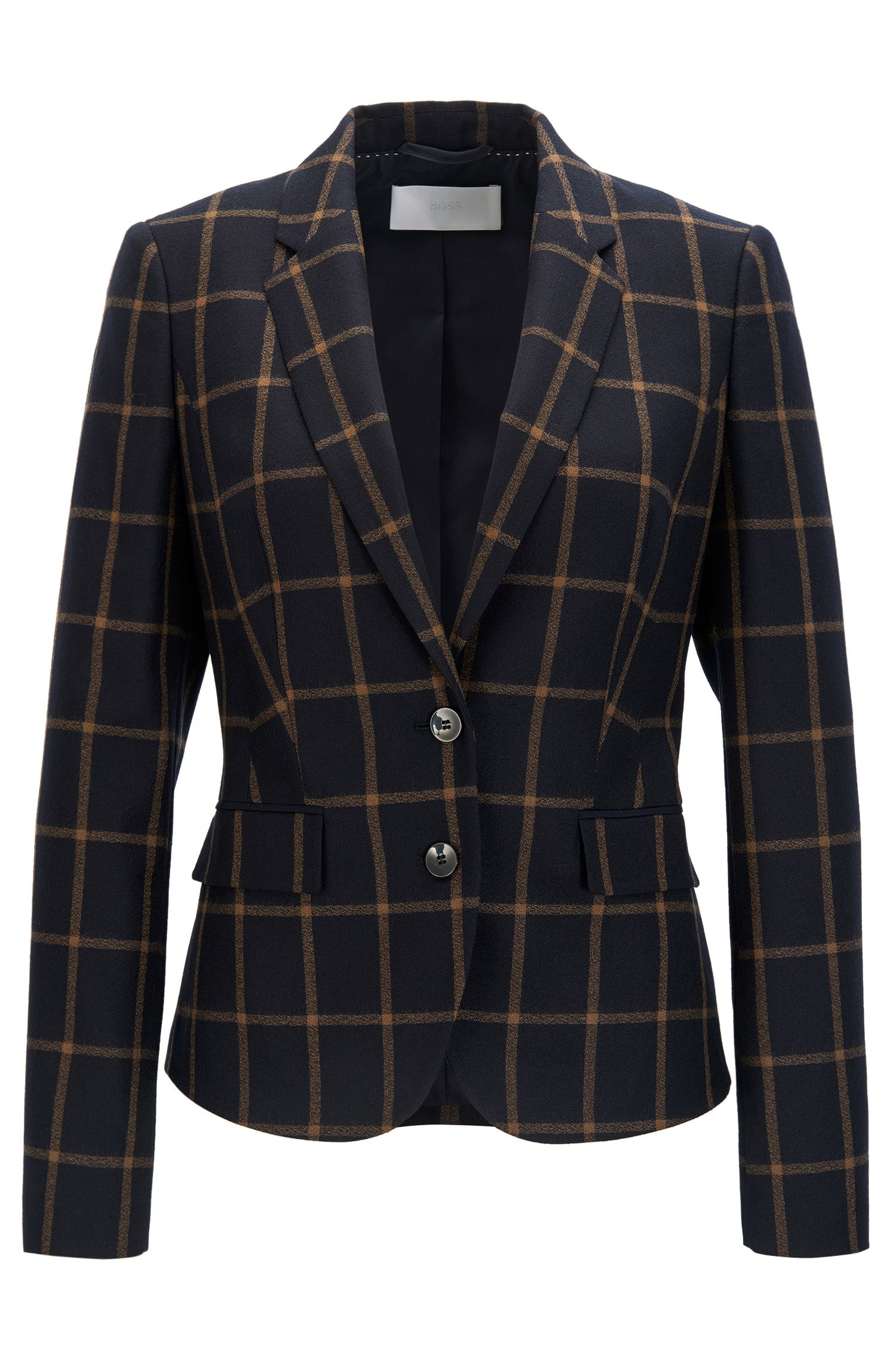 Regular-fit blazer van scheerwol