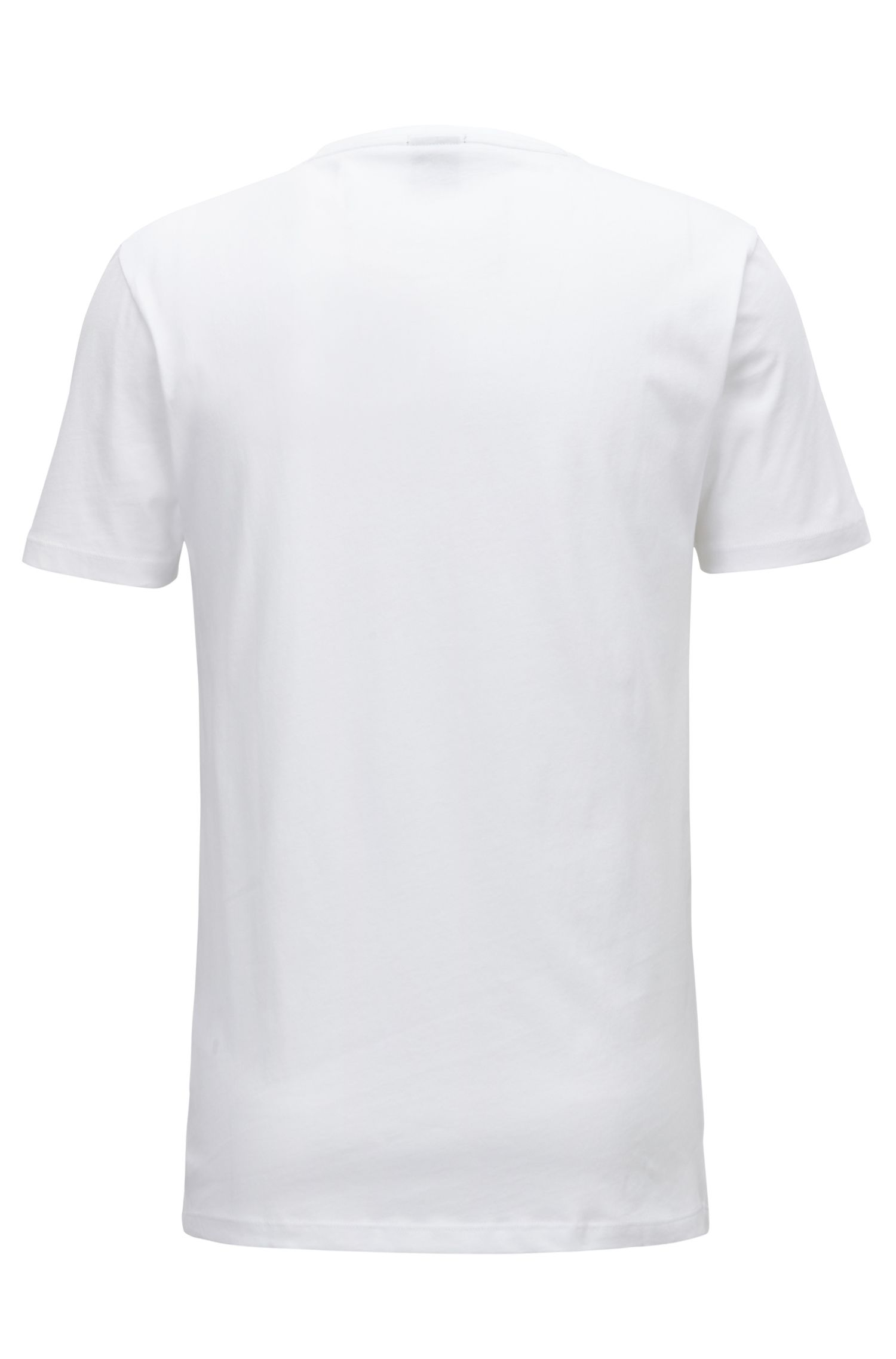 T-shirt imprimé Slim Fit en jersey simple de coton
