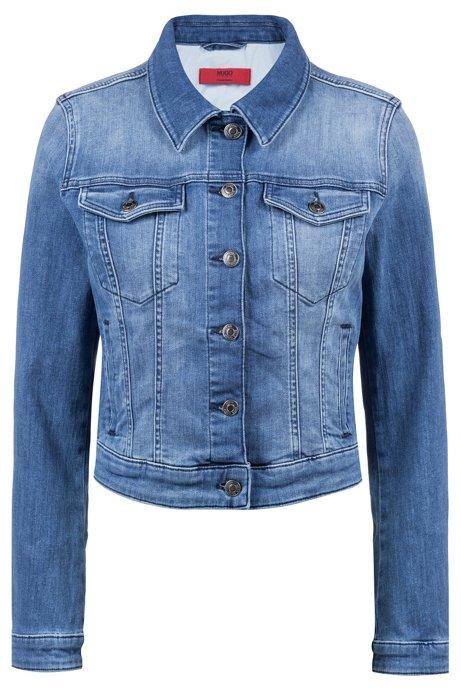 HUGO BOSS Veste en jean Slim Fit avec poches-poitrine boutonnées hQ8NR1Y