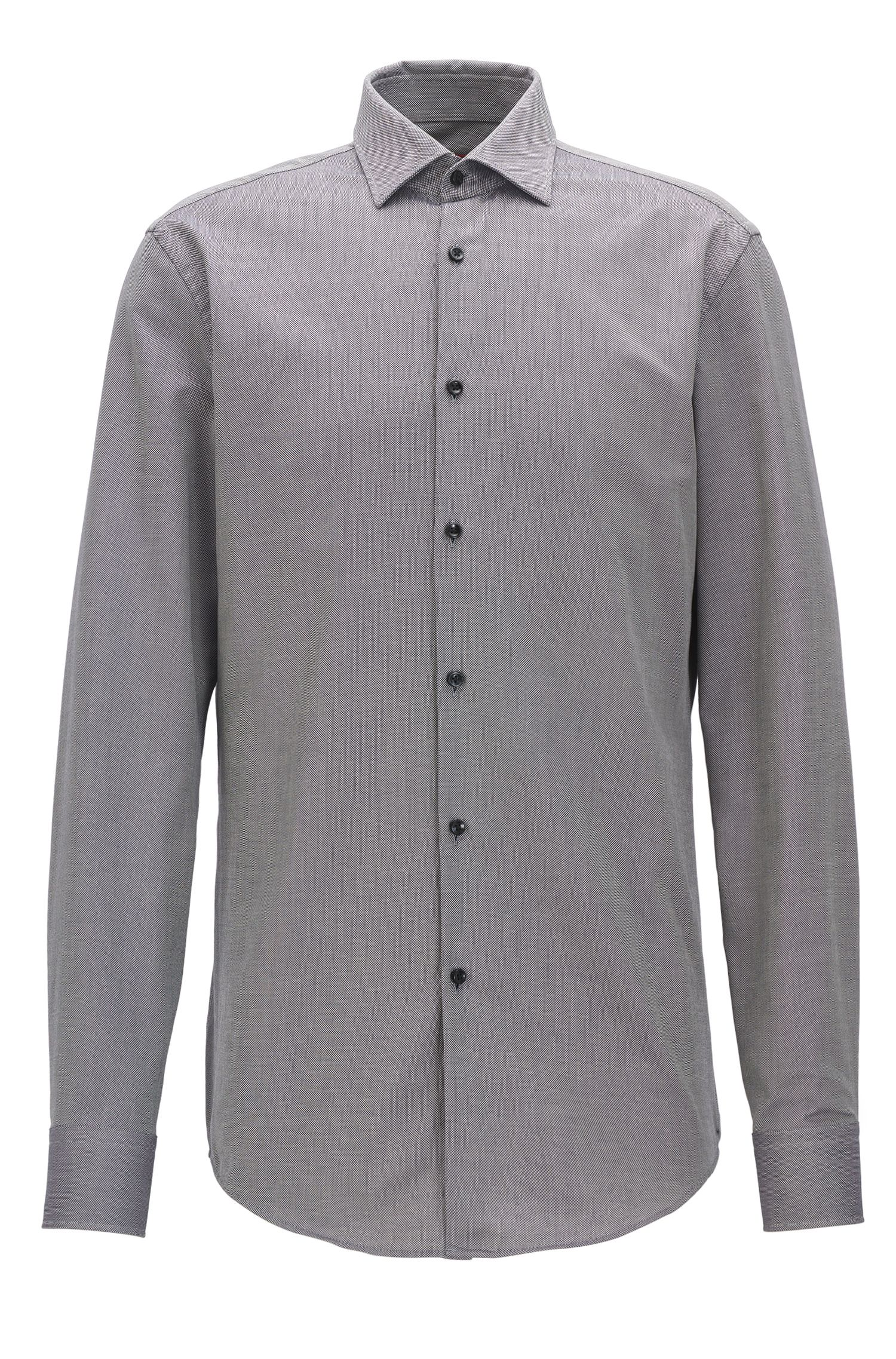Slim-fit shirt in breathable cotton