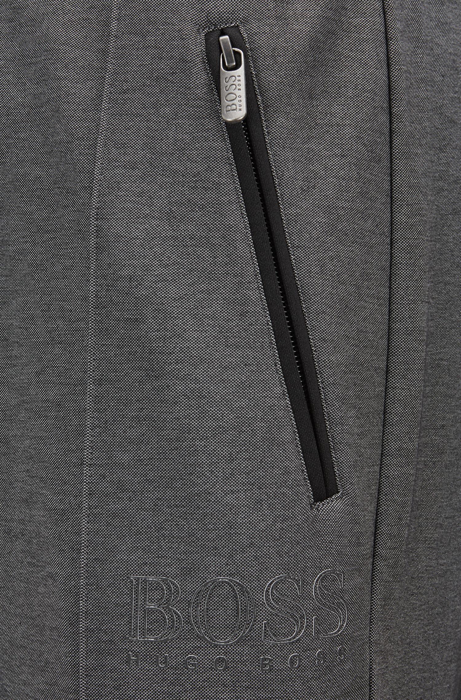 Loungebroek in een tweekleurige piqué van een katoenmix