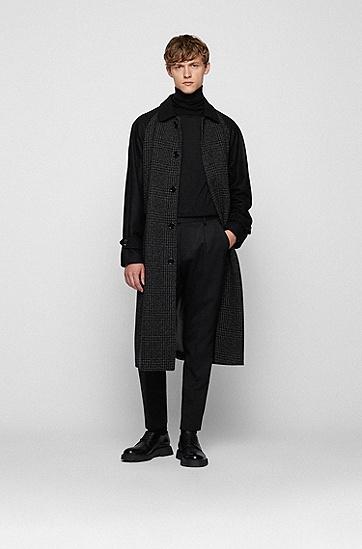 细腻意大利美利奴羊毛高领毛衣,  001_Black
