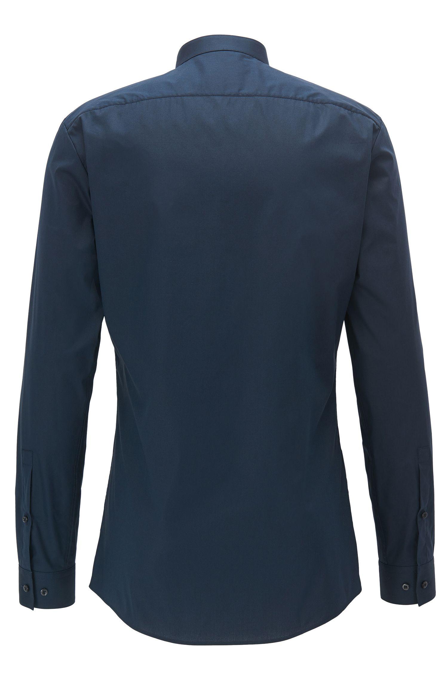 Extra Slim-fit overhemd van stretchkatoen met opstaande kraag