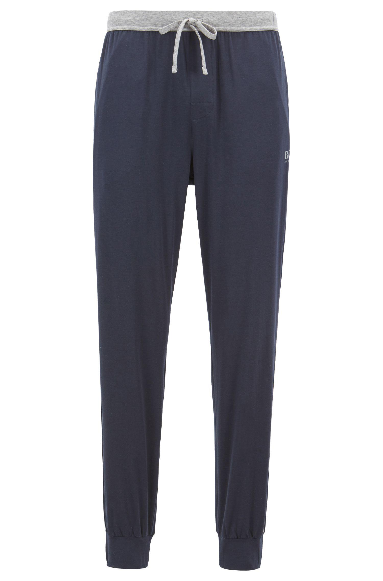 Pantaloni del pigiama in tessuto elasticizzato con fondo gamba elastico