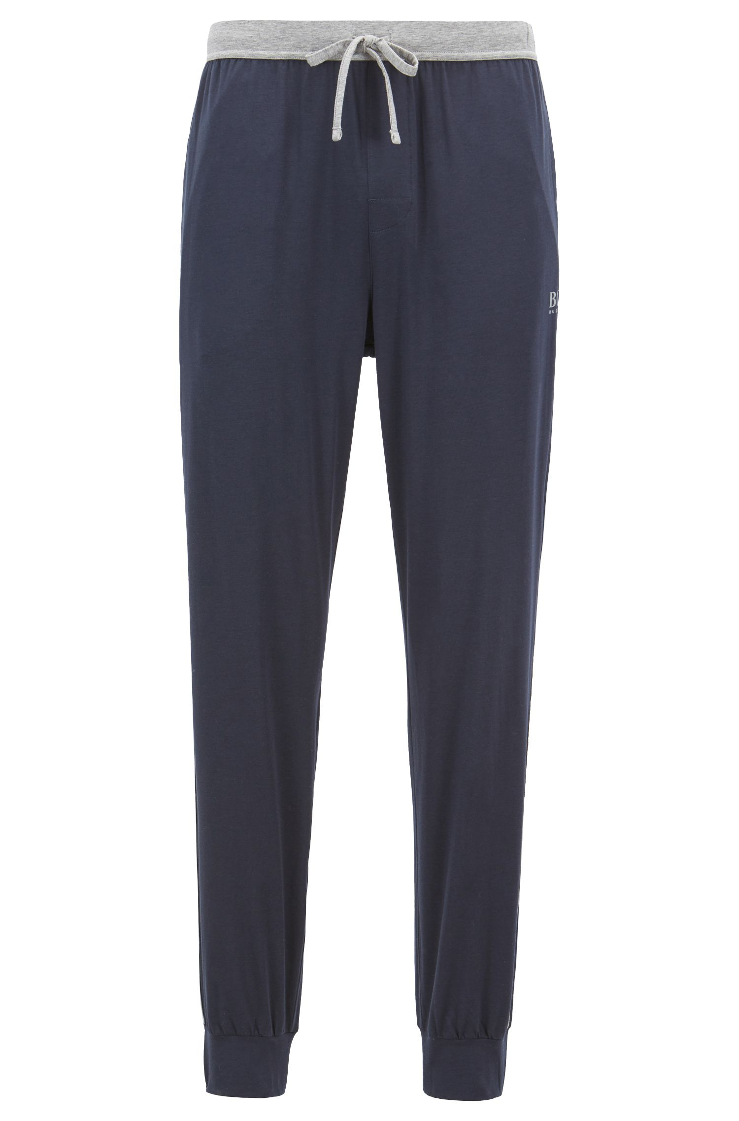 Pyjama bottoms in stretch fabric with cuffed hems