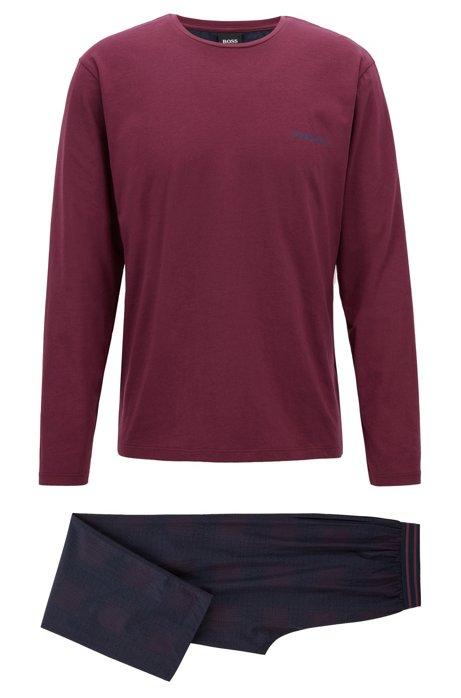7f5ab6965 BOSS - Conjunto de pijama regular fit en algodón con logo estampado