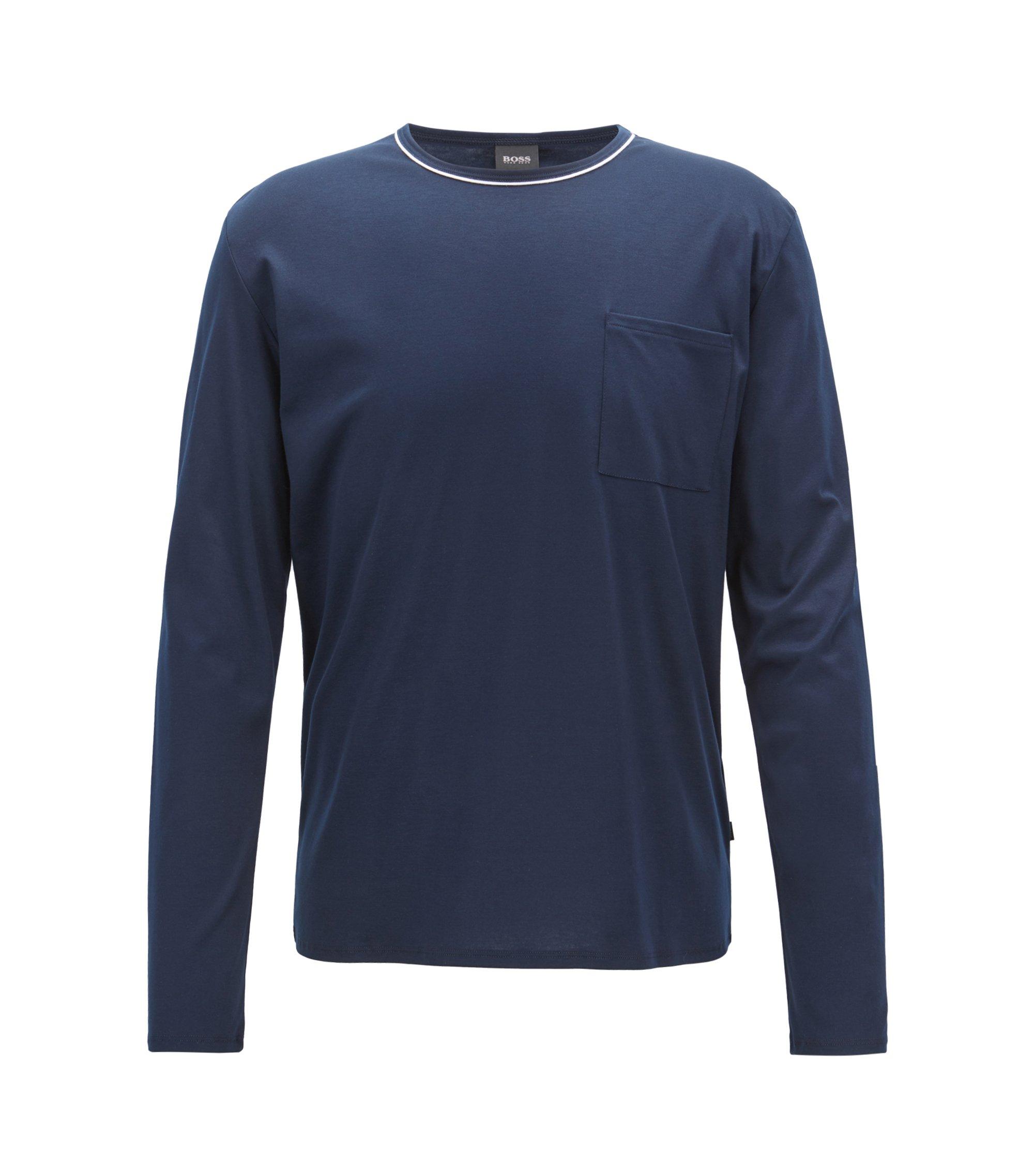 Pyjama-Top aus Interlock-Jersey mit Modal, Dunkelblau