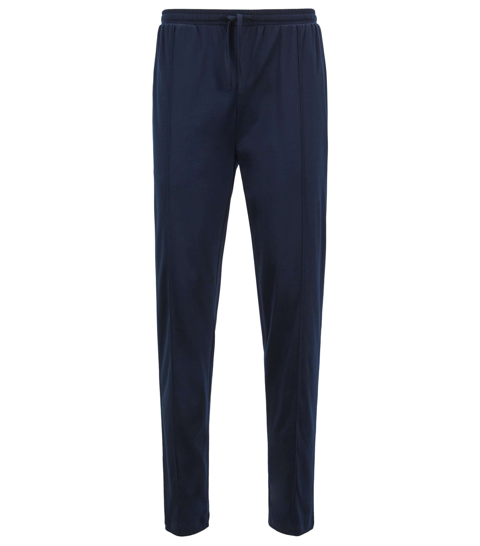 Pyjama trousers in an interlock cotton-modal blend, Dark Blue