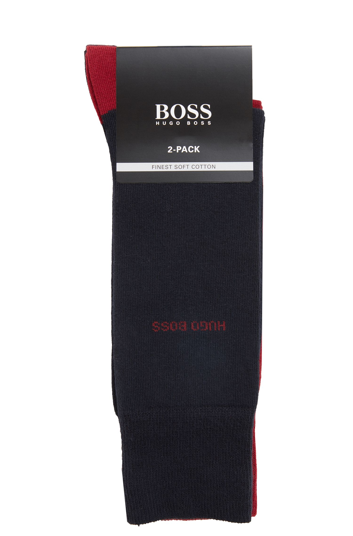 Two-pack of socks in a stretch-cotton blend