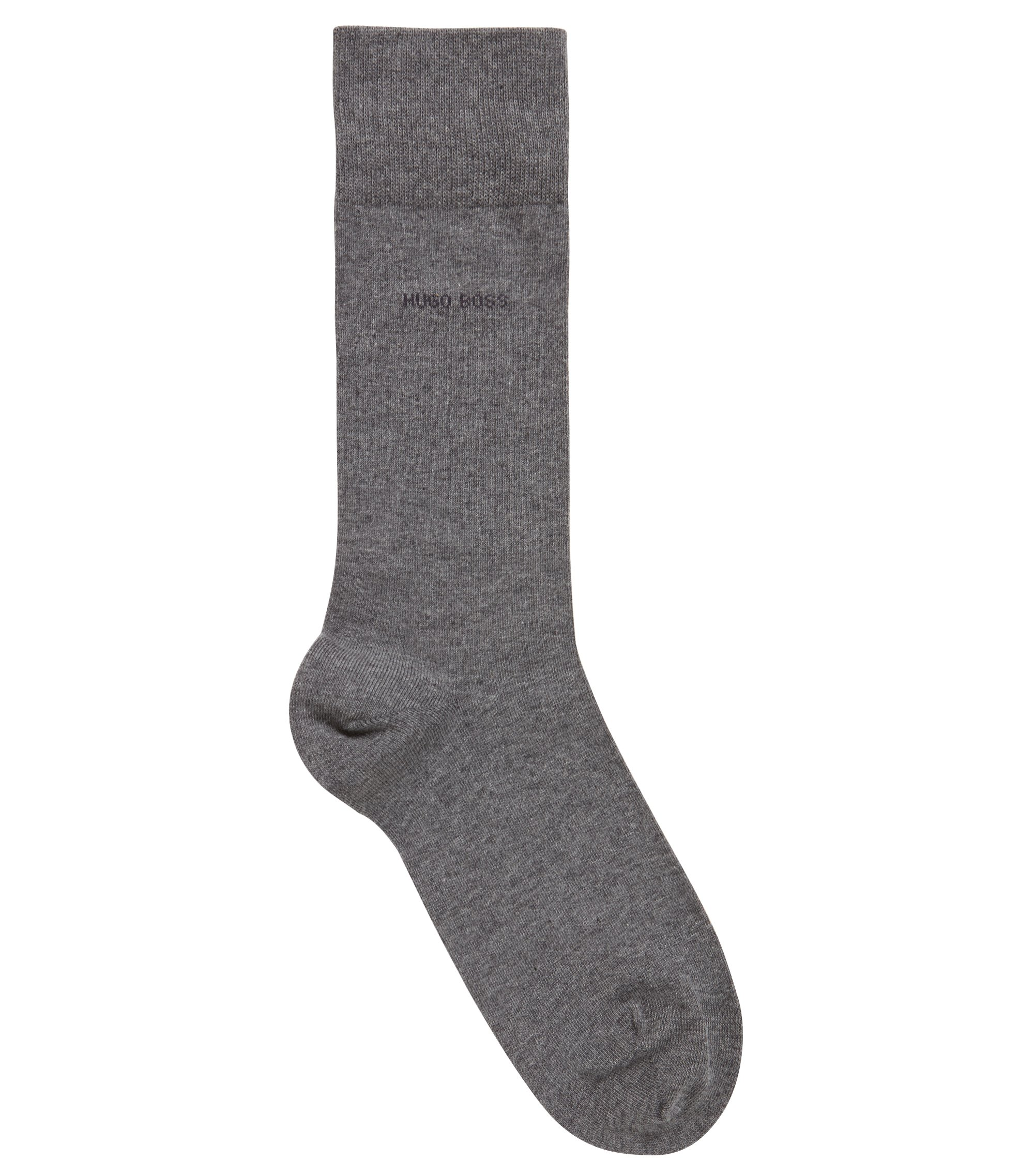 Regular-length socks in combed stretch cotton, Grey